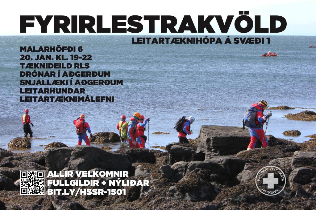Fyrirlestrakvöld leitartæknihópa á svæði 1