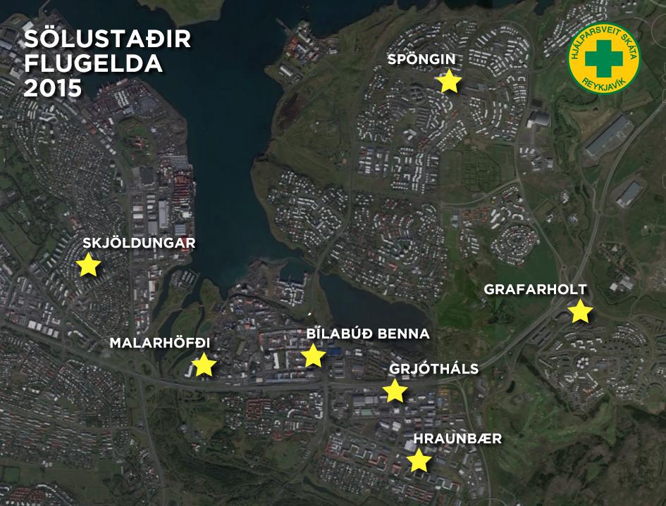 Sölustaðir flugelda HSSR 2015